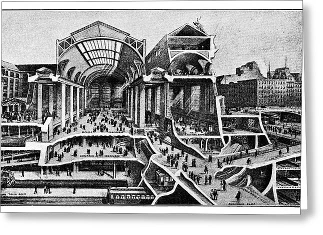 Grand Central Terminal Construction Greeting Card by Science Photo Library