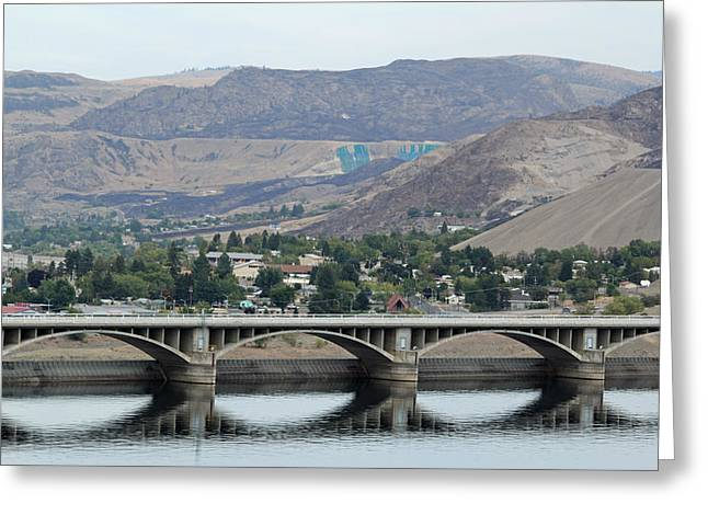 Greeting Card featuring the photograph Grand Coulee Dam  by E Faithe Lester