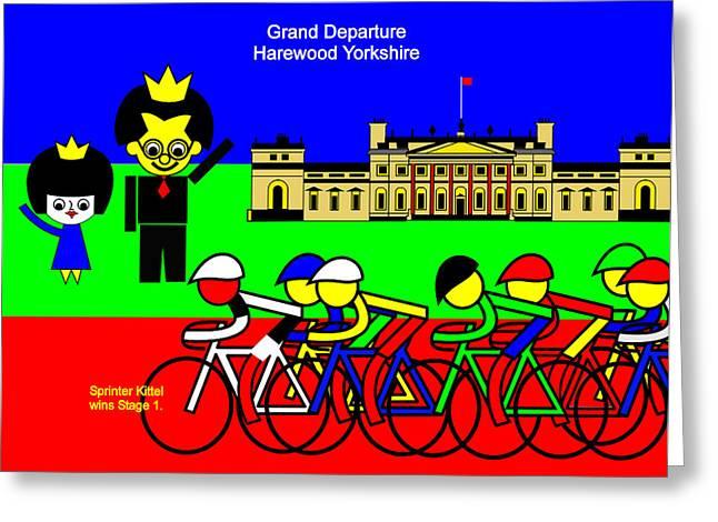Grand Departure Harewood Yorkshire Greeting Card