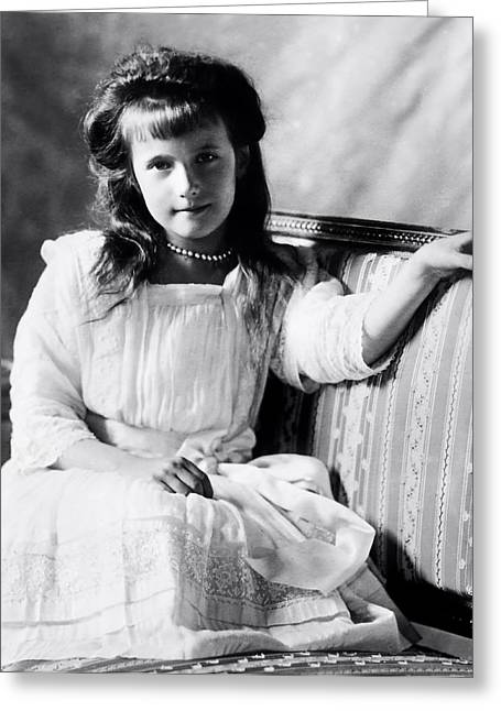 Grand Duchess Anastasia Nikolaevnav 1909 Greeting Card
