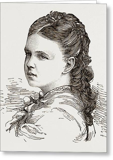 Grand Duchess Marie-alexandrovna Only Daughter Of The Czar Greeting Card