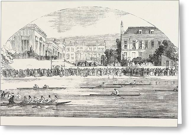 Grand Entertainment Given At The Castle Hotel, Richmond Greeting Card by English School