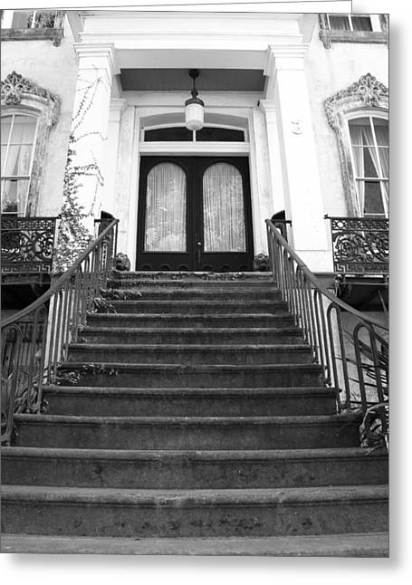 Grand Entrance In Black And White Greeting Card by Maria Suhr