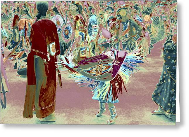 Grand Entry 10 Greeting Card by Clarice  Lakota