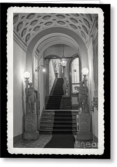 Grand Entryway Of Volterra Greeting Card by Prints of Italy