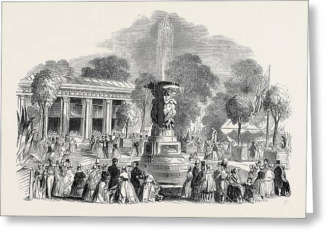 Grand Fete At Mount Edgecumbe Greeting Card by English School