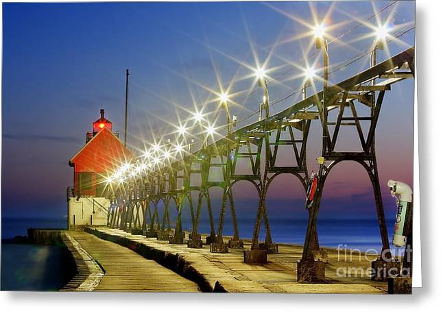 Grand Haven Front Range Lighthouse Greeting Card