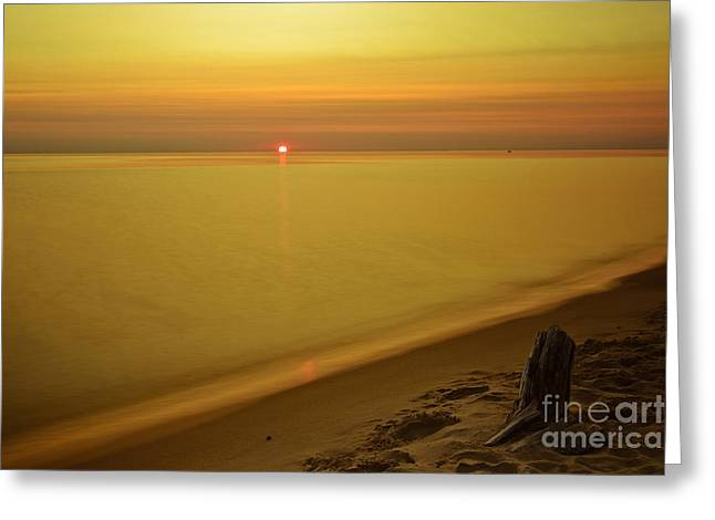 Grand Haven Sunset Greeting Card by Will Cardoso