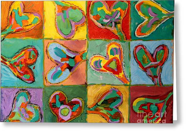 Grand Hearts Greeting Card by Kelly Athena