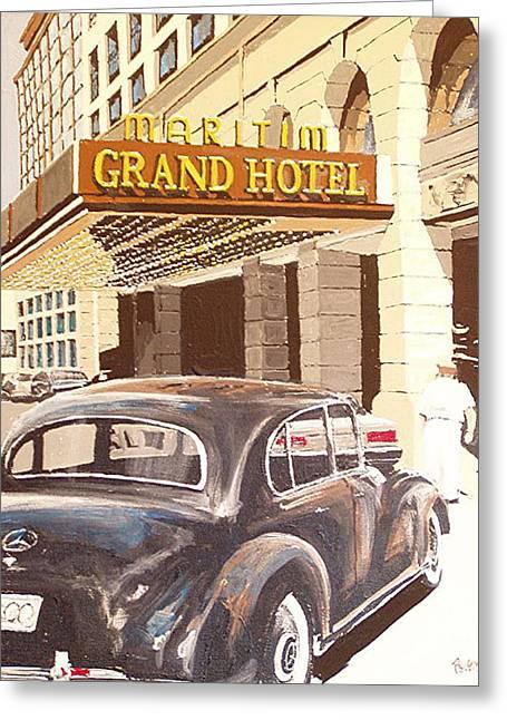 Grand Hotel East Berlin Germany Greeting Card by Paul Guyer
