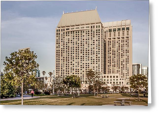 Grand Hyatt San Diego Greeting Card by Photographic Art by Russel Ray Photos
