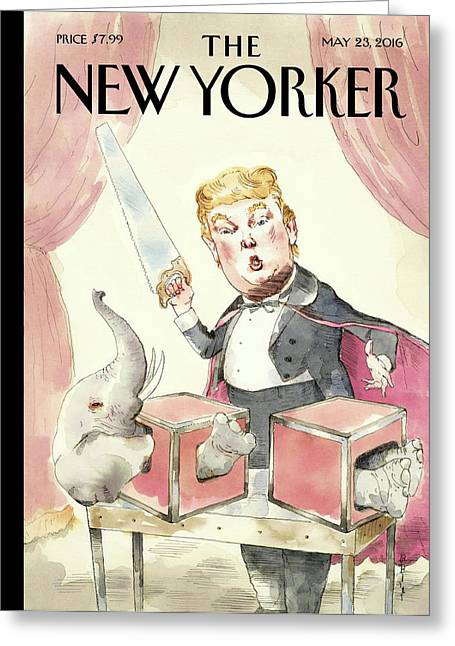 Grand Illusion Greeting Card by Barry Blitt