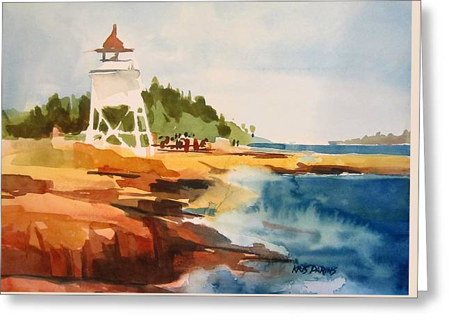 Grand Marais Greeting Card by Kris Parins
