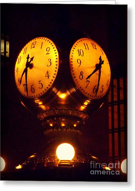 Grand Old Clock - Grand Central Station New York Greeting Card