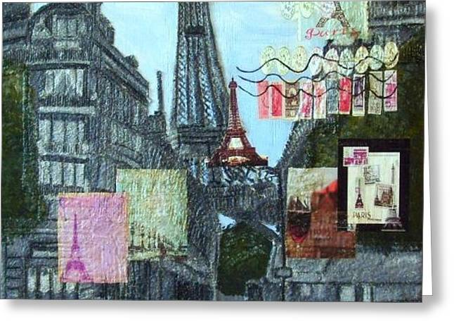 Grand Ole Paris-postcard From Paris Greeting Card by Leslye Miller