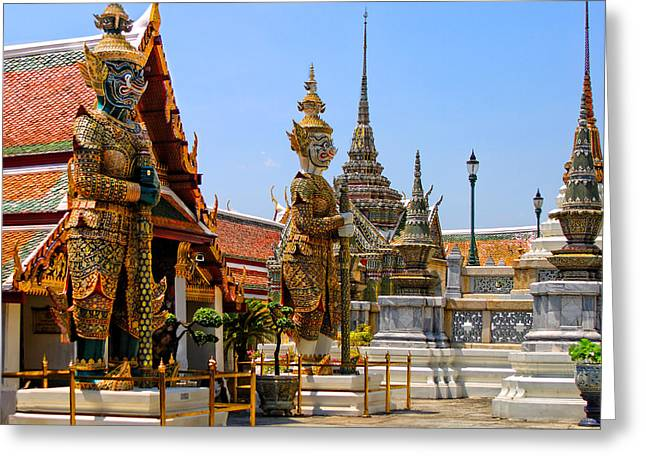 Grand Palace Angels Greeting Card by Linda Phelps