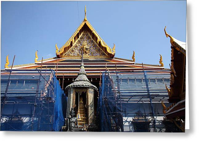 Grand Palace In Bangkok Thailand - 01132 Greeting Card by DC Photographer