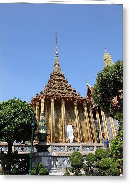 Grand Palace In Bangkok Thailand - 01138 Greeting Card by DC Photographer