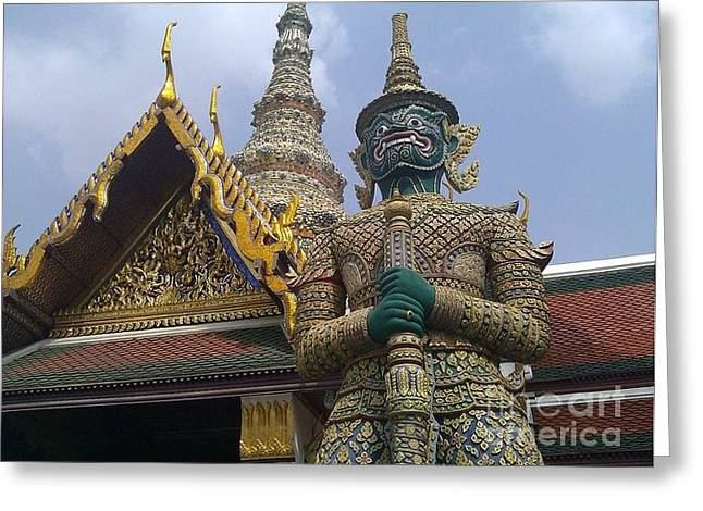 Grand Palace Thailand Greeting Card by Ted Williams
