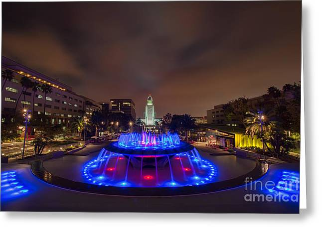 Grand Park Greeting Card by Eddie Yerkish
