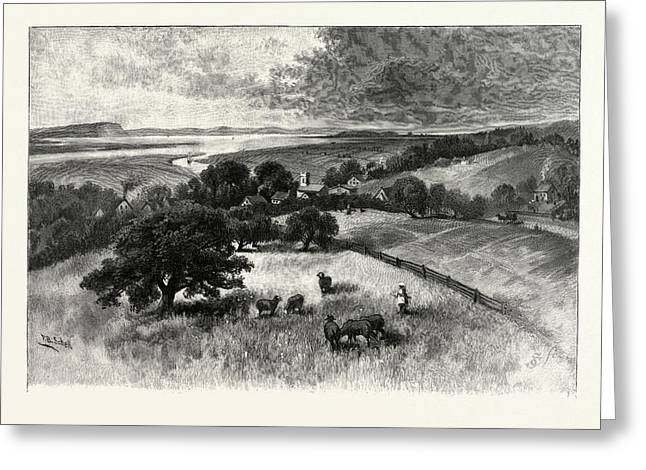 Grand Pre, And Basin Of Minas, From Wolfville Greeting Card by Canadian School