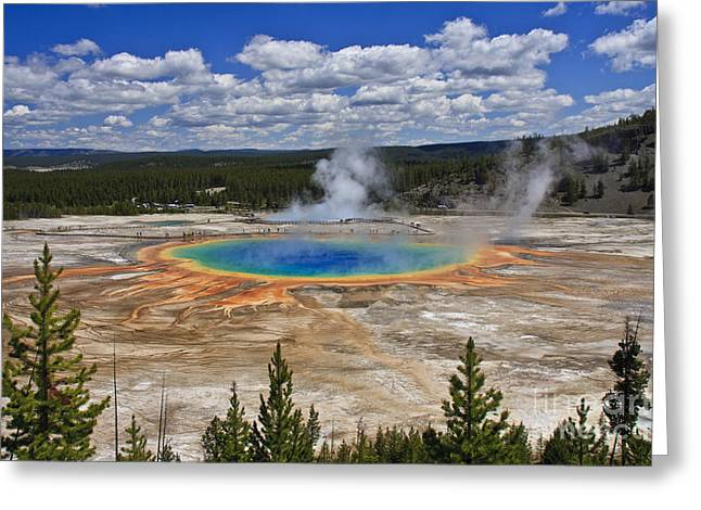 Grand Prismatic Hot Spring Greeting Card