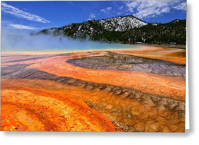 Grand Prismatic Spring Boardwalk View Greeting Card