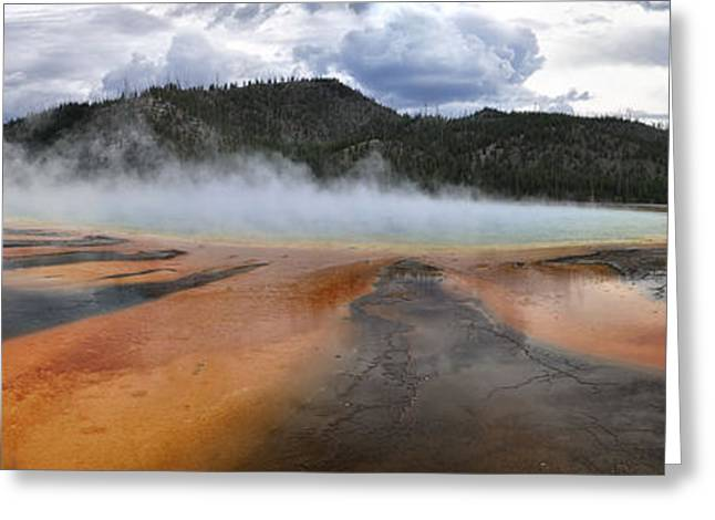Grand Prismatic Spring Greeting Card by Rob Hemphill