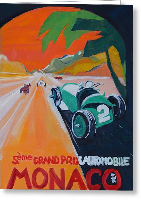 Grand Prix Greeting Card by Julie Todd-Cundiff