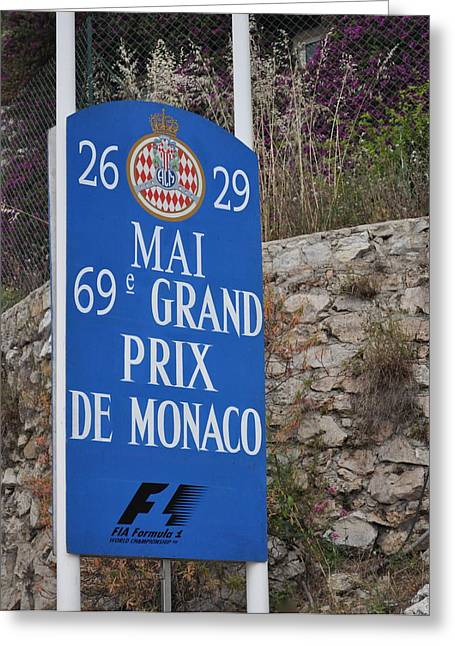 Grand Prix Sign Greeting Card