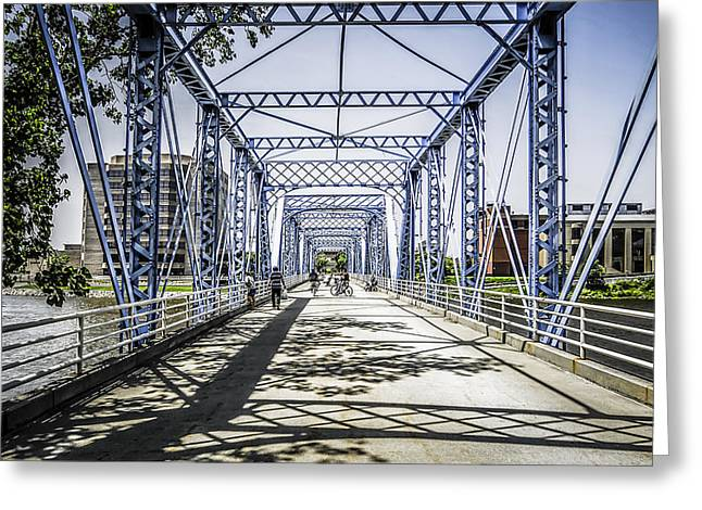 Grand Rapids Bridge Greeting Card