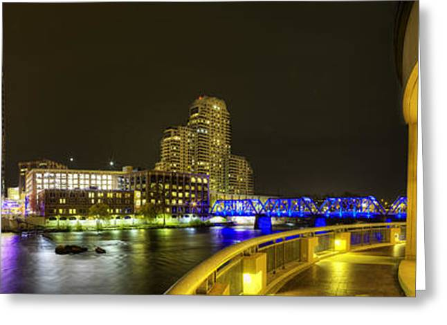 Grand Rapids From Ford Museum Greeting Card