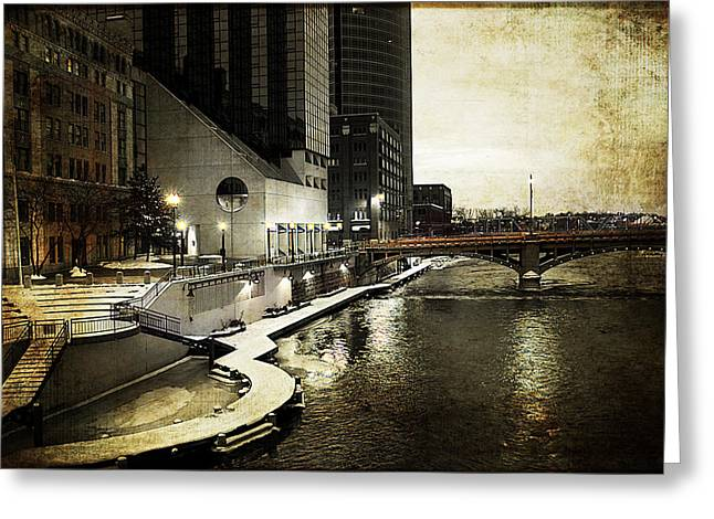 Grand Rapids Grand River Greeting Card by Evie Carrier