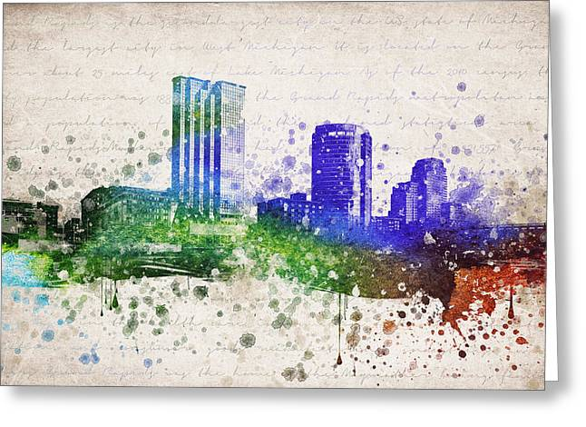 Grand Rapids In Color Greeting Card by Aged Pixel