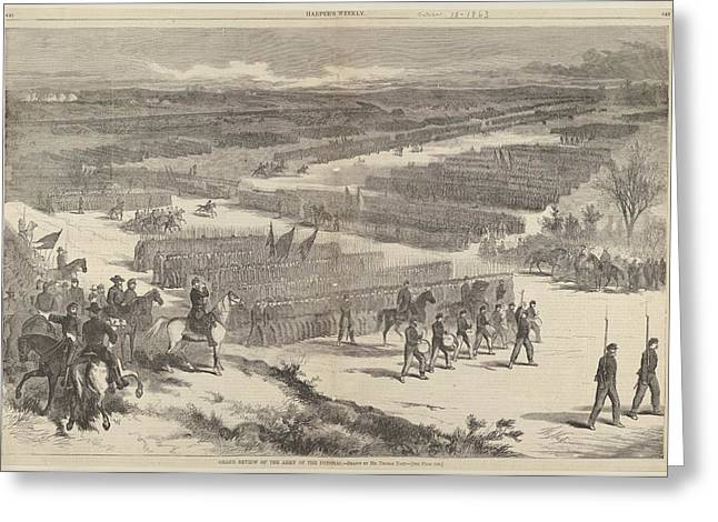 Grand Review Of The Army Of The Potomac Greeting Card by Thomas Nast