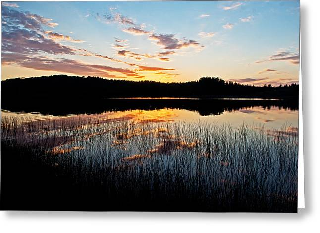 Grand Sable Lake Sunset Greeting Card