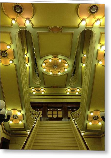 Grand Stairs Greeting Card by Photolope Images