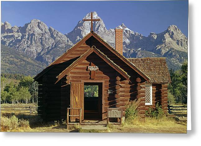 309227-grand Teton And Chapel Greeting Card by Ed  Cooper Photography