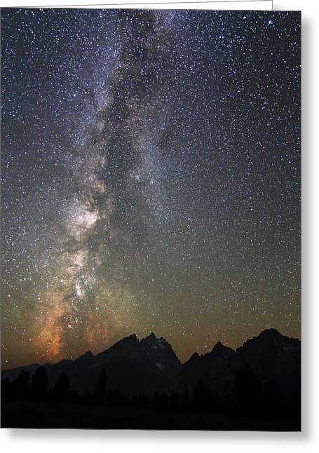 Grand Teton And The Milky Way Greeting Card