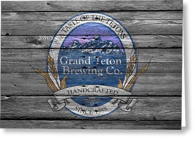 Grand Teton Brewing Greeting Card by Joe Hamilton