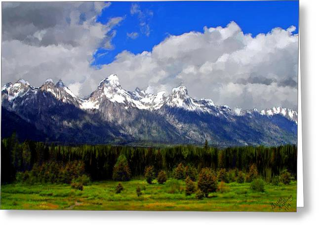 Grand Teton Mountains Greeting Card by Bruce Nutting
