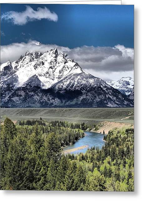 Grand Teton National Park And Snake River Greeting Card by Dan Sproul