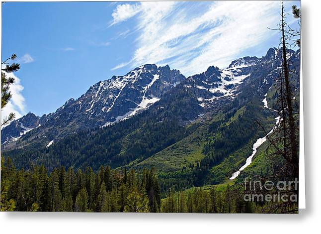 Grand Tetons And Clouds Greeting Card