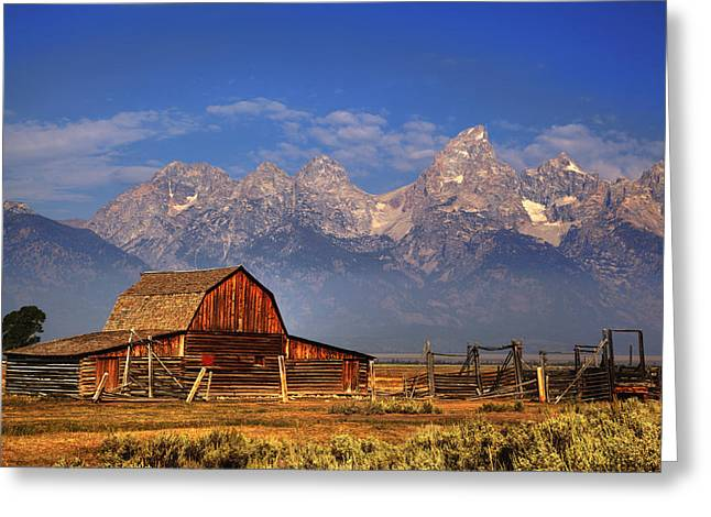 Grand Tetons From Moulton Barn Greeting Card
