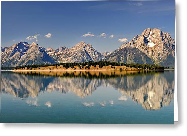 Greeting Card featuring the photograph Grand Tetons by Geraldine Alexander