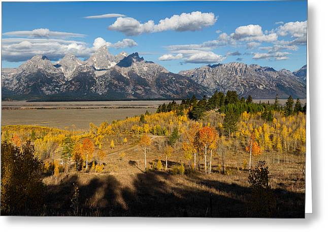 Grand Tetons In Autumn Greeting Card