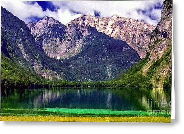 Grand Tetons National Park Painting Greeting Card by Bob and Nadine Johnston