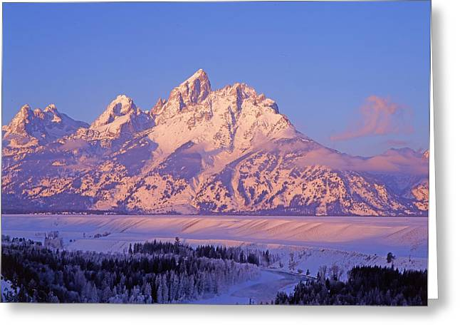 Grand Tetons Snake River Overlook Greeting Card by Richard and Susan Day