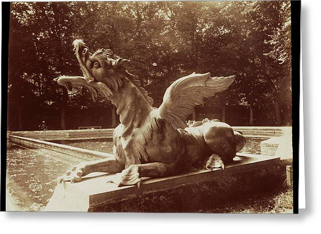Grand Trianon, Dragon Par Hardy Eugène Atget Greeting Card by Litz Collection