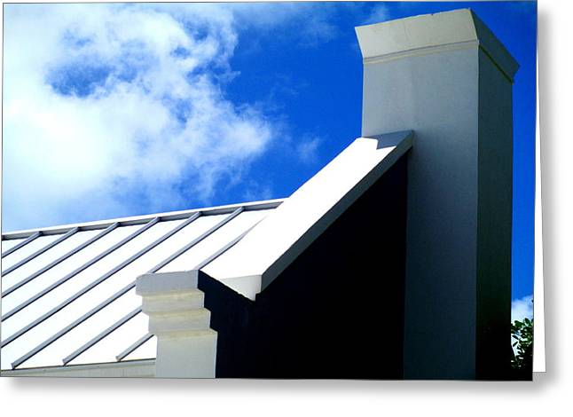 Grand Turk Building Greeting Card by Randall Weidner